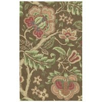 Waverly Global Awakening Imperial Dress Chocolate Area Rug by Nourison - 4' x 6'