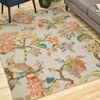 Waverly Global Awakening Casablanca Rose Smoke Area Rug by Nourison - 5' x 7'