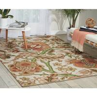 Waverly Global Awakening Imperial Dress Pear Area Rug by Nourison - 5' x 7'