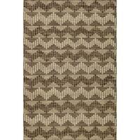 Momeni Mesa Grey Hand-Woven Wool Reversible Rug - 2' x 3'