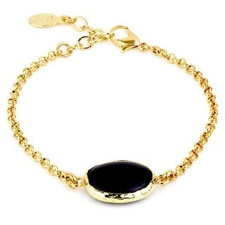 ELYA Goldtone Onyx Centerpiece Bracelet