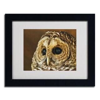 Lois Bryan 'Barred Owl Portrait' Framed Matted Art