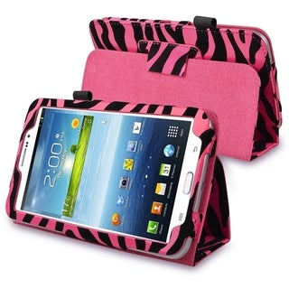 INSTEN Zebra Leather Tablet Case Cover with Stand for Samsung Galaxy Tab 3 7.0