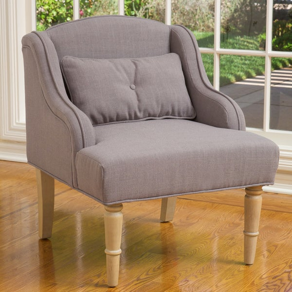 Bernadette Taupe Fabric Club Chair by Christopher Knight Home