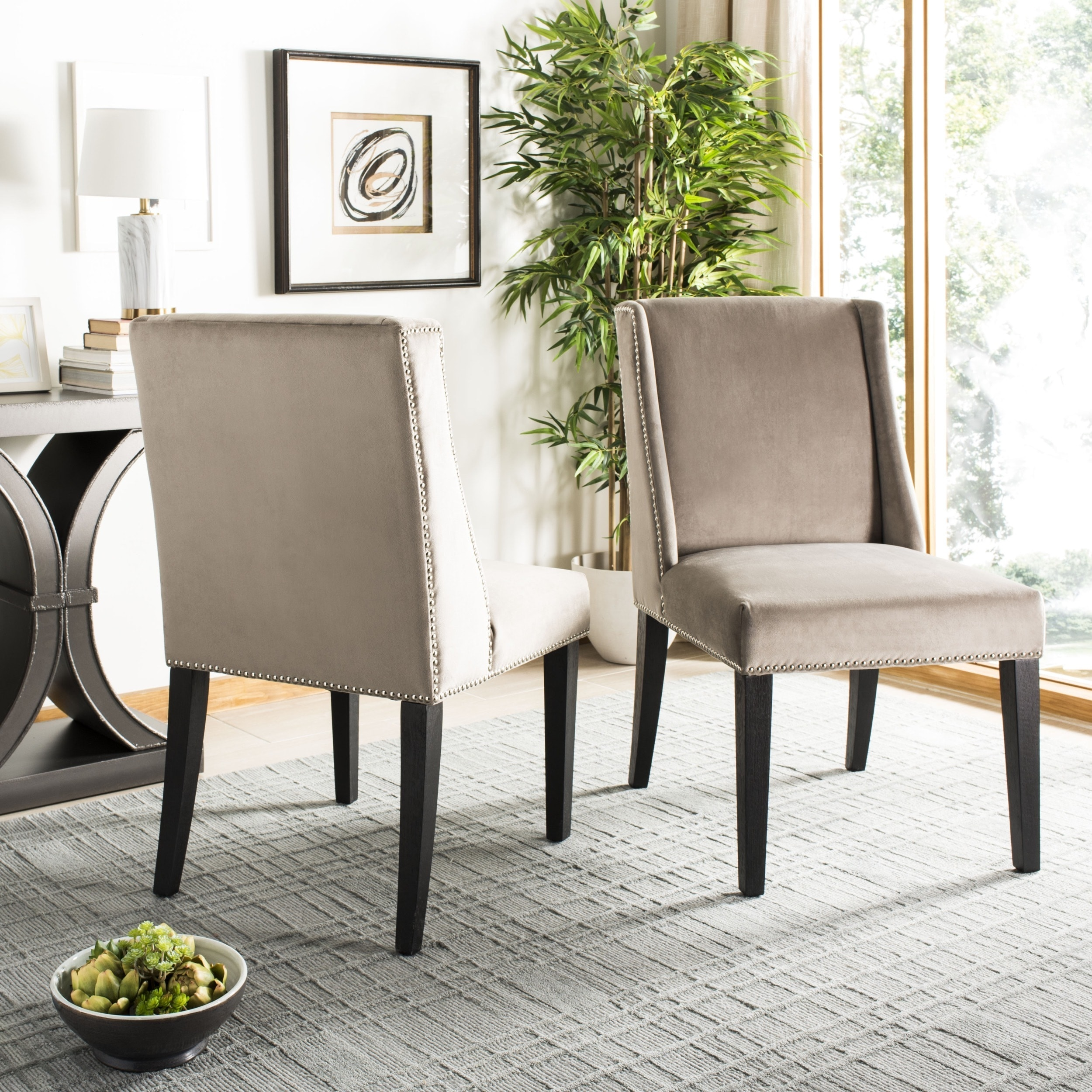 Excellent Taupe Dining Chairs The Arts Theyellowbook Wood Chair Design Ideas Theyellowbookinfo