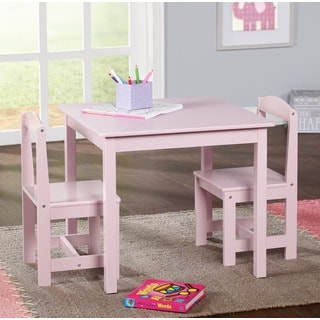 Simple Living Pink 3-piece Hayden Kids Table/ Chair Set