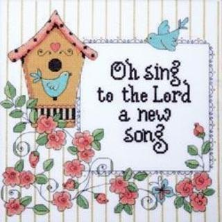 Heartfelt A New Song Counted Cross Stitch Kit - 10 X10 14 Count