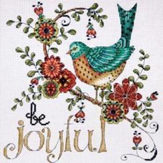 Heartfelt Be Joyful Counted Cross Stitch Kit - 10 X10  14 Count