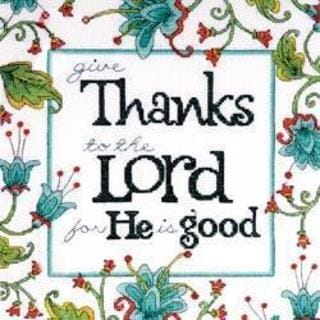 Heartfelt Give Thanks Counted Cross Stitch Kit - 10 X10 14 Count