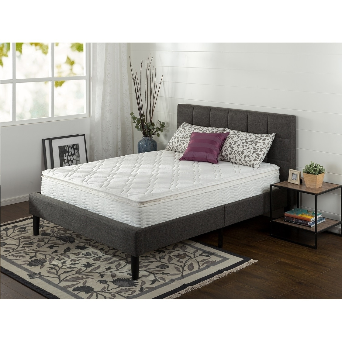 Priage Pillow Top 10-inch Twin-size iCoil Spring Mattress...