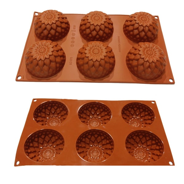 Universal 6-cavity Flowers and Petals Silicone Mold Baking Pans