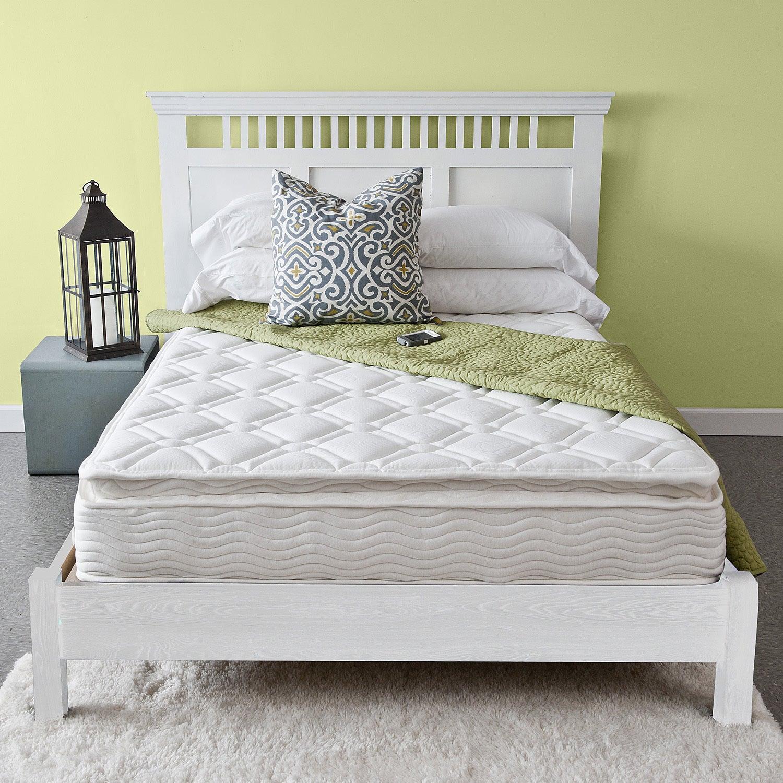 Priage Pillow Top 10-inch King-size iCoil Spring Mattress...