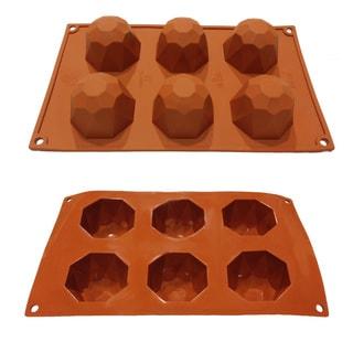 Universal 6-cavity Diamond Shaped Silicone Mold Baking Pans
