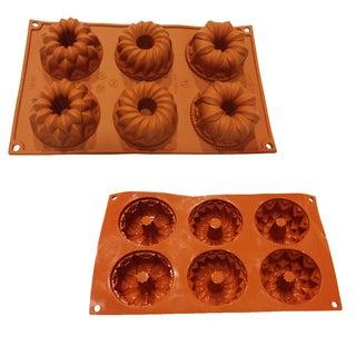 Universal 6-cavity Bundt Coffee Cake Silicone Mold Baking Pans