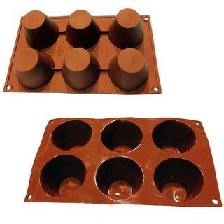 Universal 6-cavity Muffin Pudding Tart Silicone Mold Baking Pans