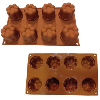 Universal 8-cavity Canneless Silicone Mold Baking Pans