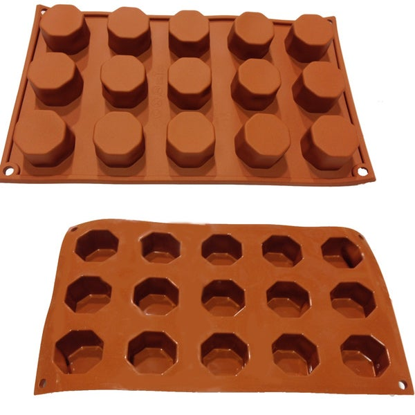Universal 15-cavity Chocolate, Candy and Pastry Silicone Mold Baking Pans