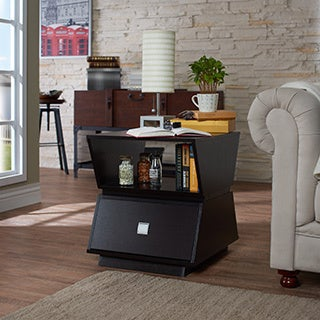 Furniture of America Geometric Modern Double Storage Cappuccino End Table