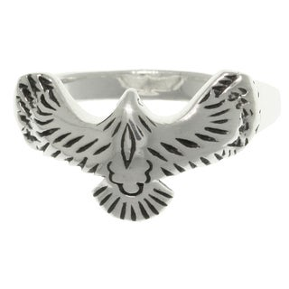 Carolina Glamour Collection Sterling Silver American Eagle in Flight Ring