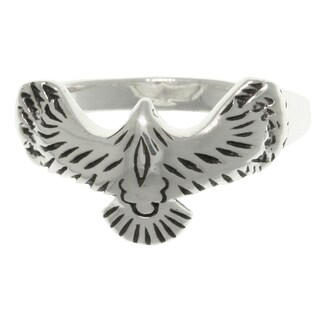 Sterling Silver American Eagle in Flight Ring