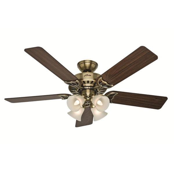 Hunter Fan Studio Series 52-inch Antique Brass Ceiling Fan