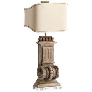 Cyan Design U0027Loftu0027 Limed Gracewood 2 Light Table Lamp (Option: Limed