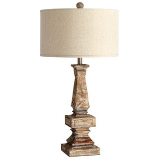 Cyan Design 'Tashi' Aged White Wood Traditional Table Lamp