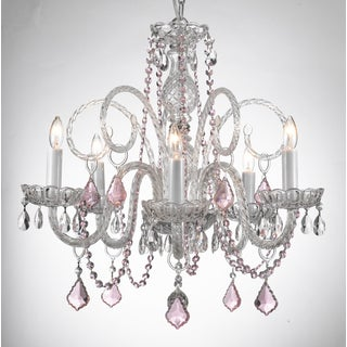 Gallery Venetian Style All-crystal Chandelier with Color Crystal