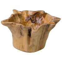 East At Main's Decorative Rustic Wooden Natura Fruit Pot