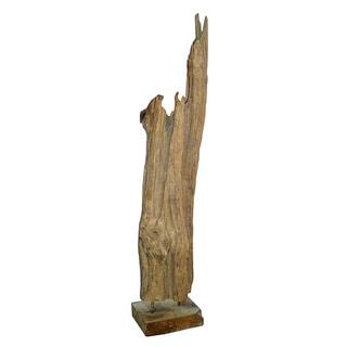 Decorative Rustic Wooden Natura Accent Pillar