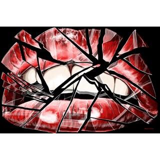 Maxwell Dickson 'Shattered Lip' Modern Canvas Wall Art