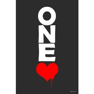 Maxwell Dickson 'One Love' Canvas Wall Art