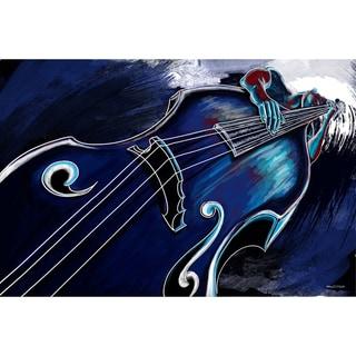 Maxwell Dickson 'Bass Player' Canvas Wall Art
