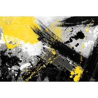 Maxwell Dickson 'Yellow Jacket' Modern Canvas Wall Art