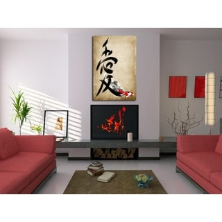 Maxwell Dickson 'Love Kanji' Modern Canvas Wall Art