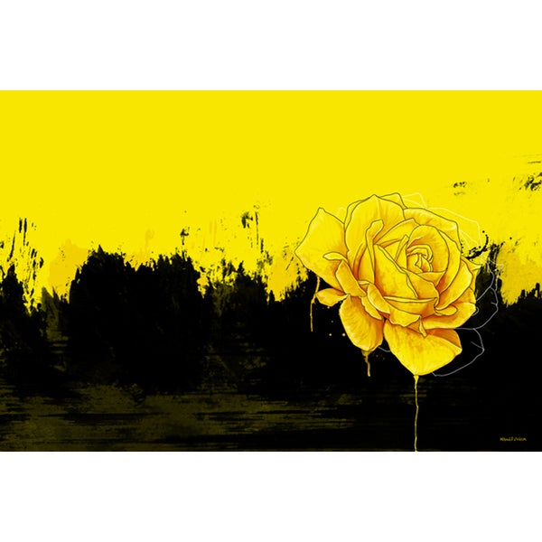 Maxwell Dickson \'Yellow Rose\' Canvas Wall Art - Free Shipping Today ...