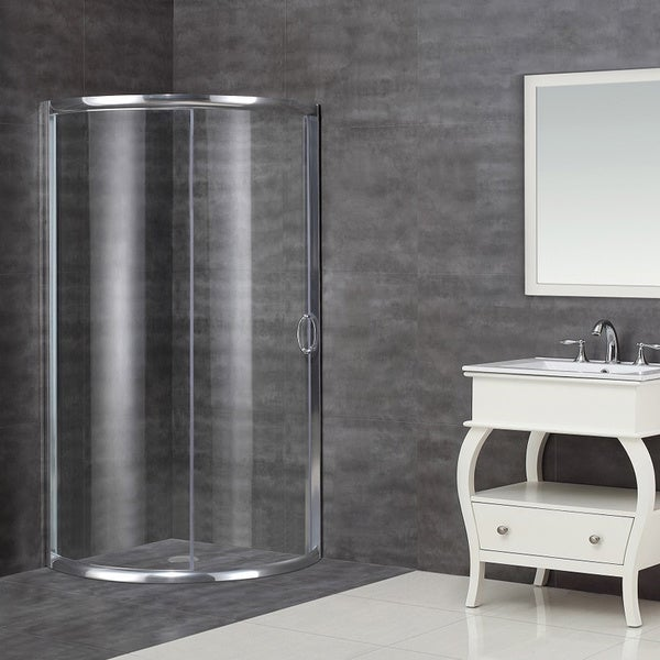 Delightful Aston 36 In X 36 In Neo Round Semi Frameless Bypass Shower
