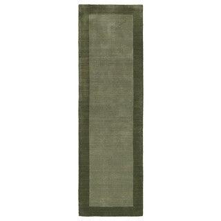 Borders Hand-Tufted Fern Wool Rug (2'6 x 8'9)