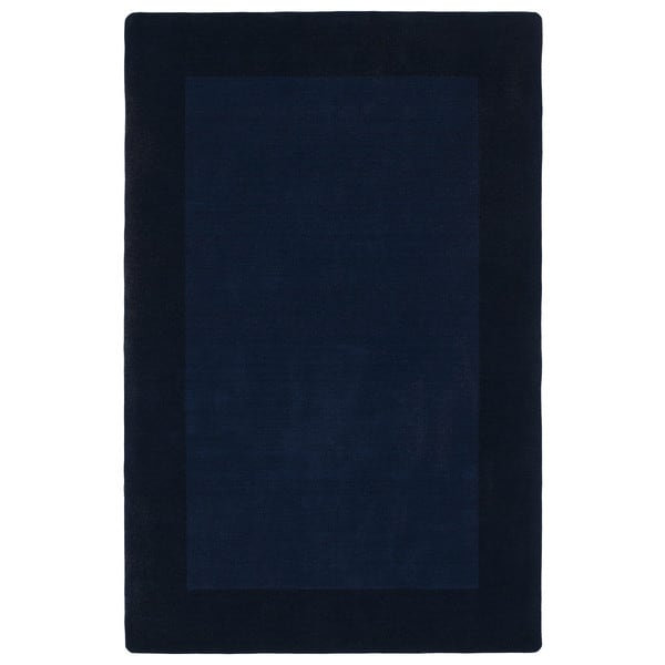 Borders Hand-Tufted Navy Wool Rug - 8' x 10'