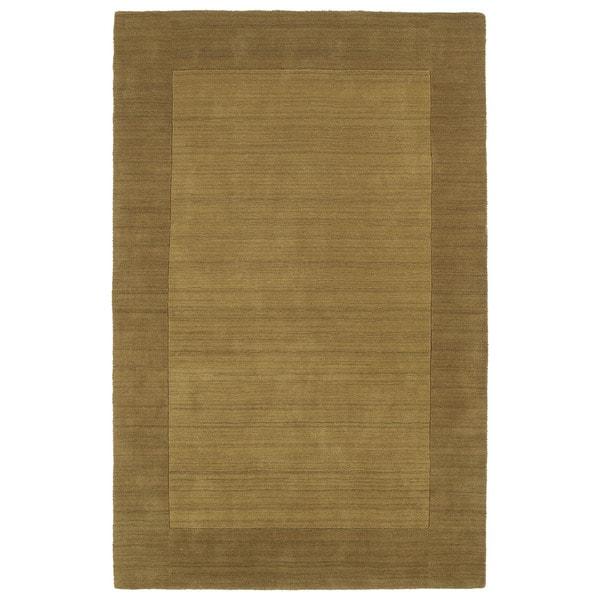 Borders Hand-Tufted Yellow Wool Rug - 8' x 10'