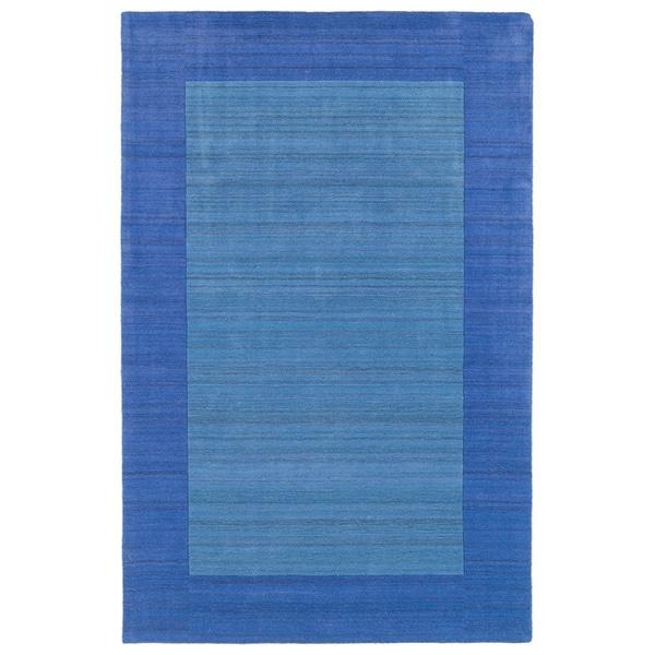 Borders Hand-Tufted Ice Blue Wool Rug - 8' x 10'