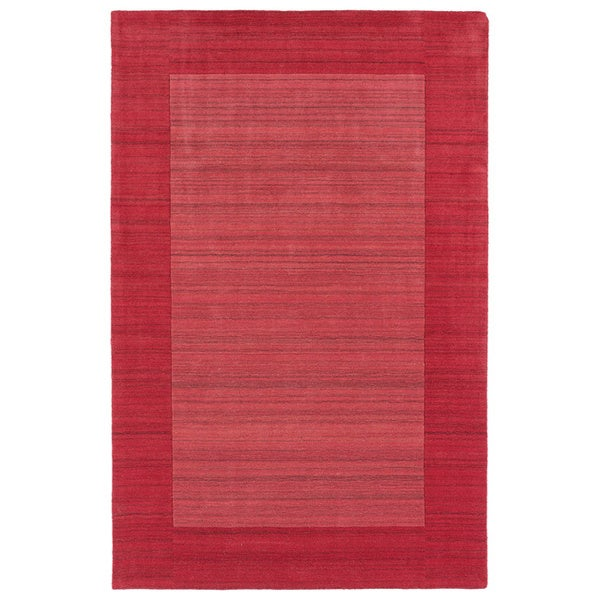 Borders Hand-Tufted Watermelon Wool Rug (9'6 x 13'0)