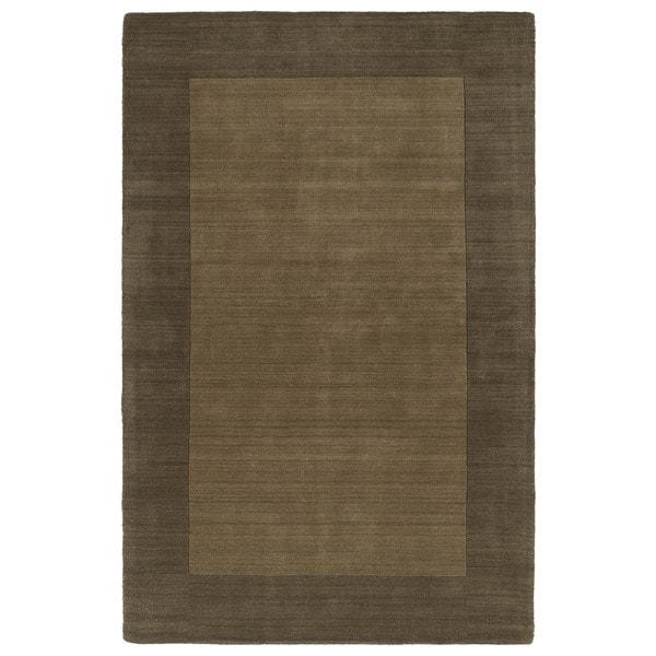 Borders Hand-Tufted Chocolate Wool Rug (9'6 x 13'0)