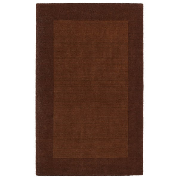 Borders Hand-Tufted Copper Wool Rug - 5' x 7'9