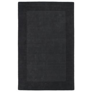 Borders Hand-Tufted Charcoal Wool Rug (8'0 x 10'0)