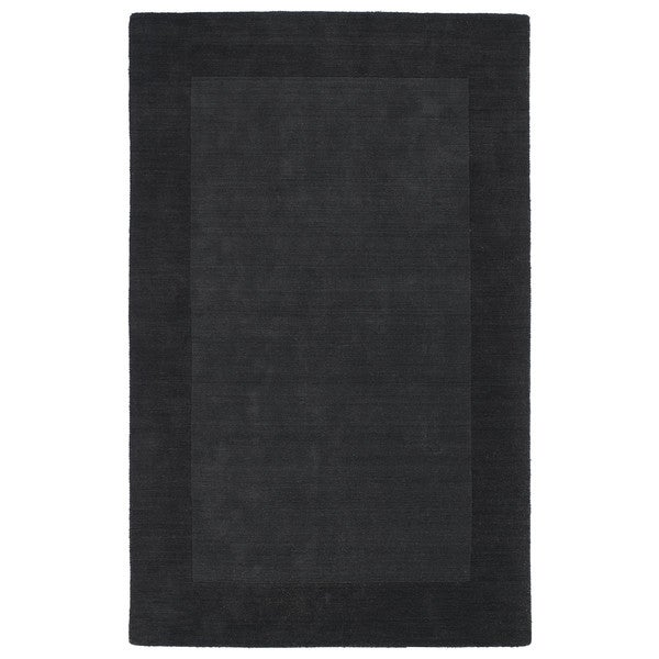 Borders Hand-Tufted Charcoal Wool Rug (9'6 x 13'0)