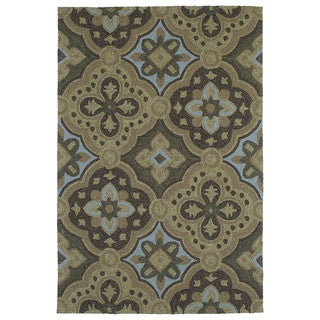 Seaside Chocolate Panel Indoor/Outdoor Rug (10'0 x 14'0)