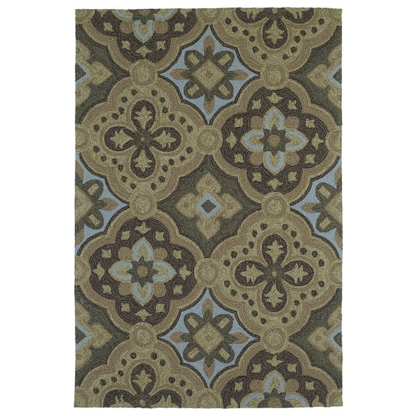 Seaside Chocolate Panel Indoor/Outdoor Rug