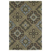 Seaside Chocolate Panel Indoor/Outdoor Rug - 5' x 7'6