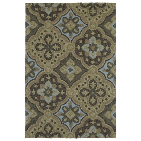 Seaside Chocolate Panel Indoor/Outdoor Rug - 4' x 6'